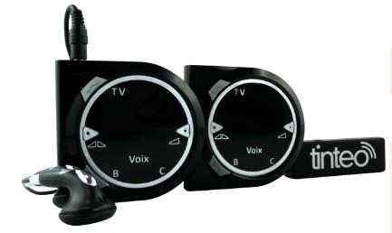 tinteo amplificateur de son et casques tv sans fil pour. Black Bedroom Furniture Sets. Home Design Ideas