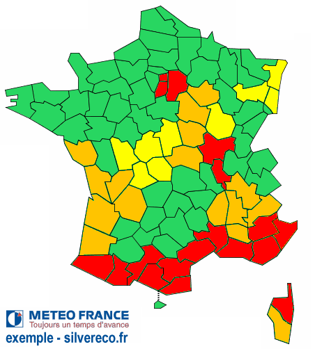 plan canicule carte de france