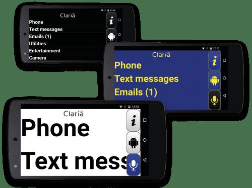 Claria Application malvoyants