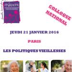 Jeudi 21 janvier 2016 : Colloque national FNADEPA « Les politiques vieillesses »