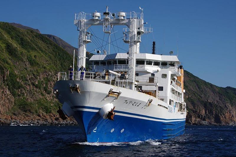 Ferry Toshima Suwanosejima island Kagoshima Japan