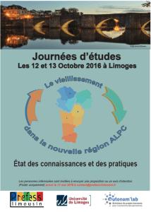 journée d'études le vieillissement dans la nouvelle région ALPC