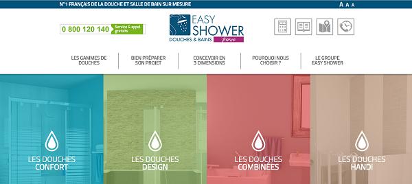 un nouveau site internet pour easy shower silver economie. Black Bedroom Furniture Sets. Home Design Ideas