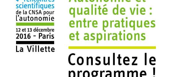 4e Rencontres scientifiques de la CNSA pour l'autonomie : découvrez le programme !