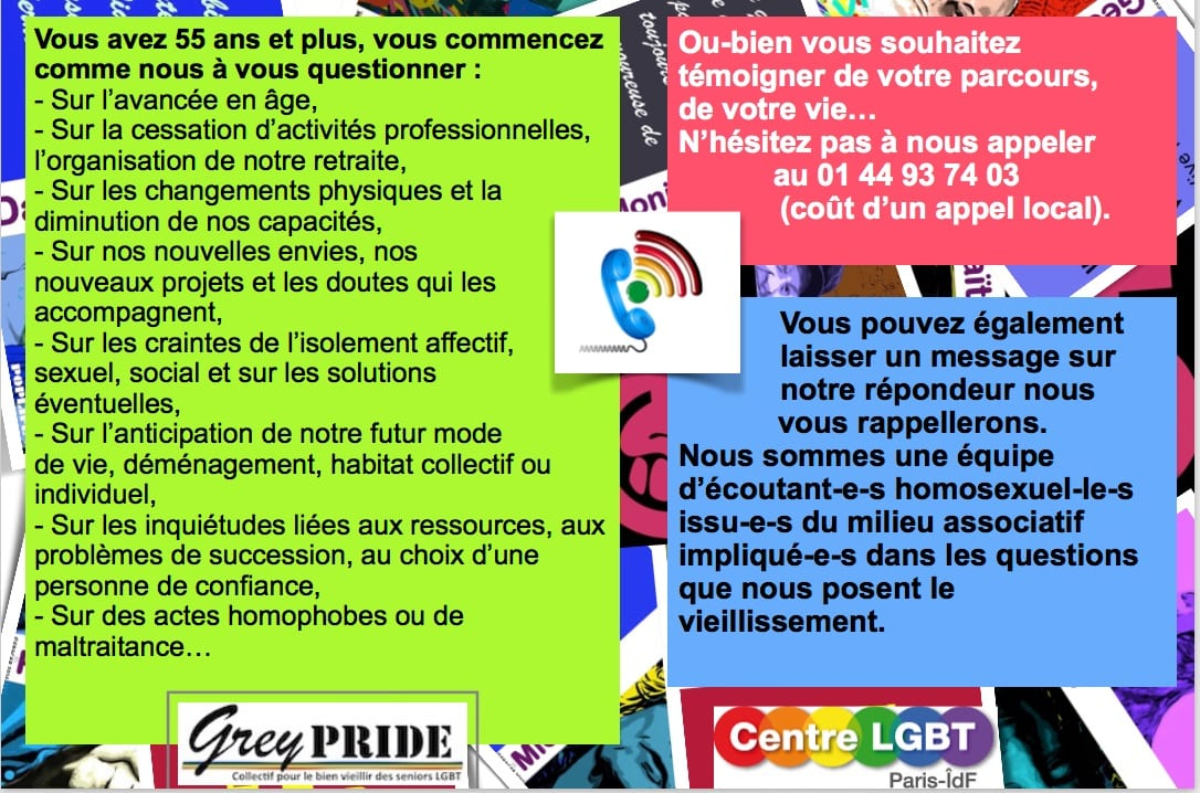 Gay and Grey accueil téléphonique
