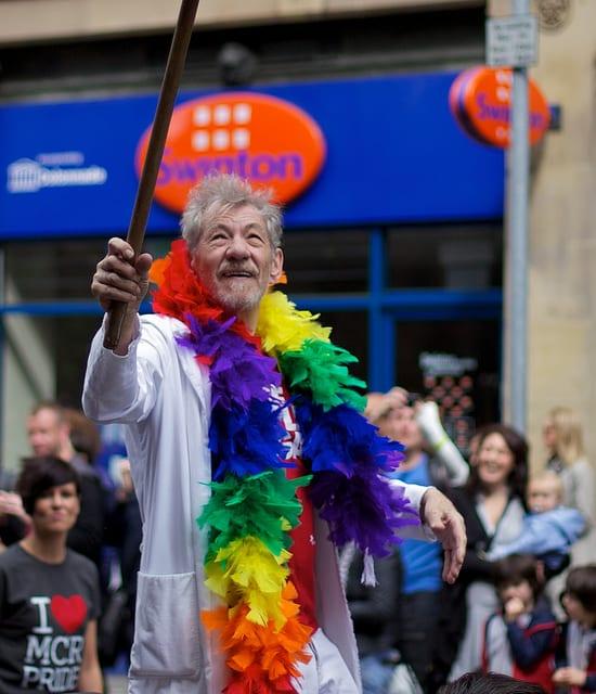 Ian McKellen by Pete Birkinshaw gay senior LGBT
