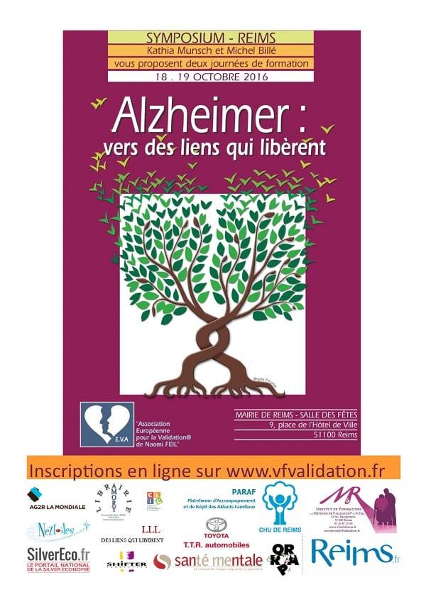 Affiche du symposium Alzheimer : vers des liens qui libèrent à reims