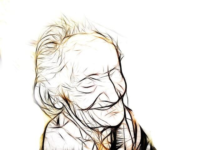 Maladie d'Alzheimer sur personne âgée