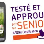 Le smartphone Doro 8031 labellisé «Testé et approuvé par les seniors» par l'AFNOR