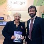 Jérôme Pigniez a remis officiellement l'Annuaire National de la Silver Economie à Pascale Boistard
