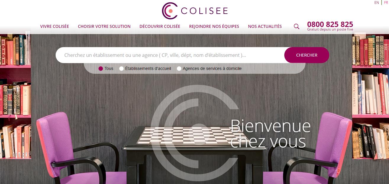 Nouveau site Internet pour le Groupe Colisée