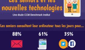 [Infographie CCM Benchmark] Les seniors et les nouvelles technologies