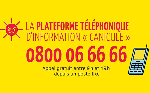 Plateforme téléphonique - Canicule Seniors