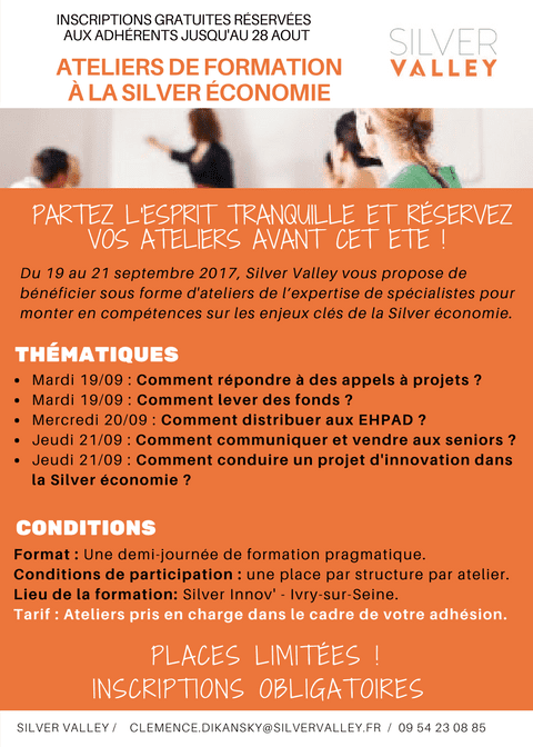 Ateliers de formation à la Silver économie @ Silver Innov' | Ivry-sur-Seine | Île-de-France | France