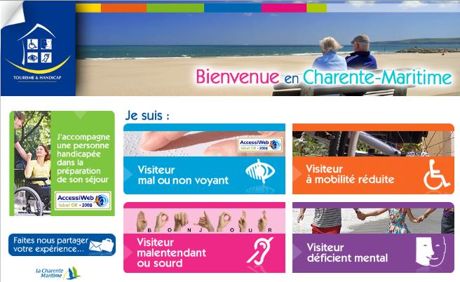 Site internet Charente Maritime
