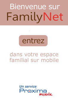 Apperçu d'écran de l'application mobile FamilyNet