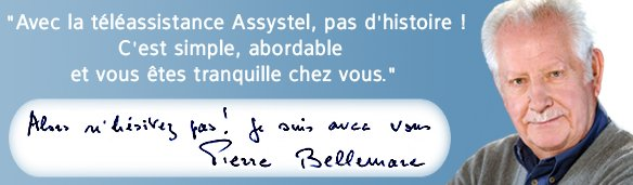Campagne de Communication d'Assystel avec Pierre Bellemare