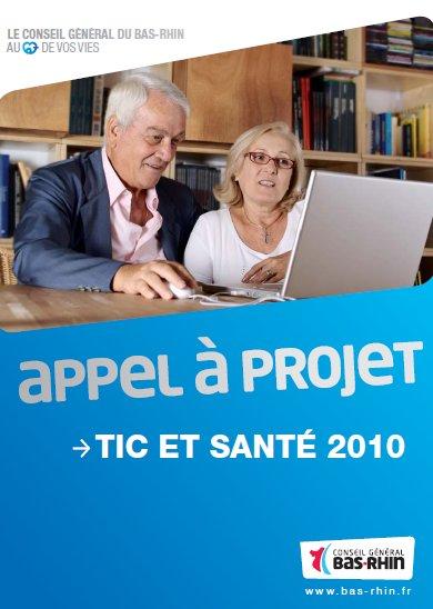 Appel à projets TIC et Santé du Conseil Général du Bas Rhin