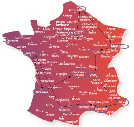 Les étapes du Train Alzheimer en France