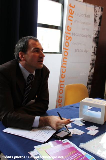 Stand de la société Ubiquiet au Forum des Gerontechnologies