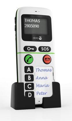 Le design du téléphone portable pour Seniors doro handleplus 334gsm