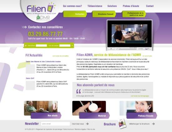 Le nouveau site internet de la Téléalarme Filien