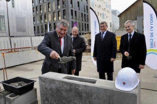 Pose de la Première pierre de la Maison de l'Autonomie et de la longévité des Pays de la Loire