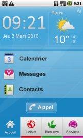Interface Tel&Age de Prylos : Ecran d'Accueil