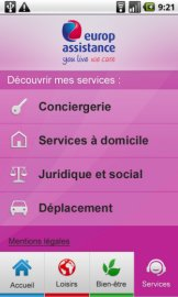 Interface Tel&Age de Prylos : Ecran Services