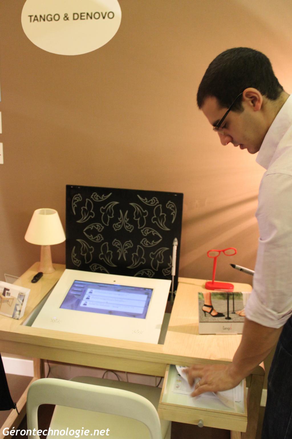 Interfcae Tactile présentée par Denovo Design