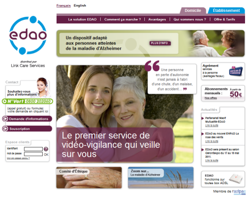 Le nouveau site internet EDAO de Link Care Services
