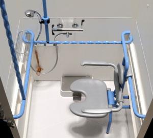 Axeo un ensemble de douche et sanitaires autonome for Norme ergonomique bureau