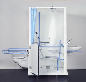 axeo un ensemble de douche et sanitaires autonome silver economie. Black Bedroom Furniture Sets. Home Design Ideas