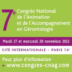 Congrès de l'Animation et de l'Accompagnement en Gérontologie