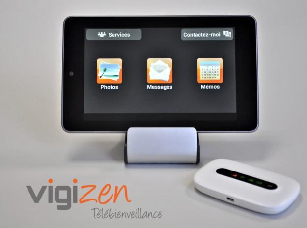 maintien domicile vigizen lance t l bienveillance une tablette tactile pour seniors qui. Black Bedroom Furniture Sets. Home Design Ideas