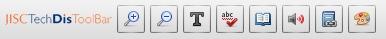 La barre d'outils pour navigateurs internet JISC TecDis Toolbar