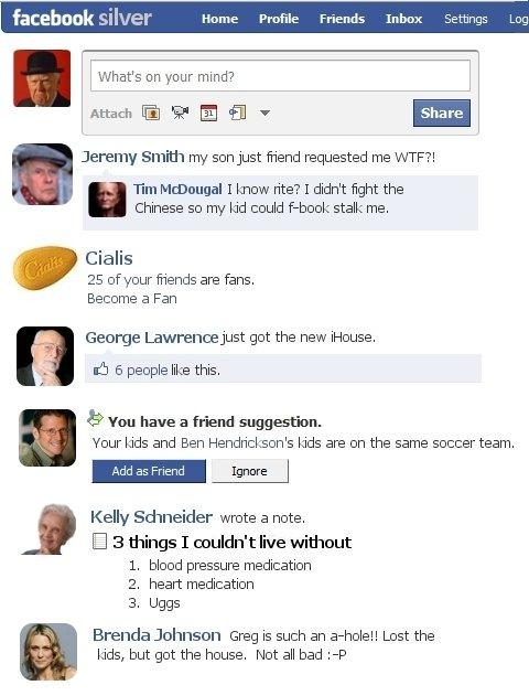 facebook pour les vieux