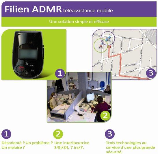 Fonctionnement de la Téléassistance mobile de Filein ADMR