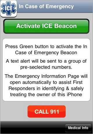 ICE - Beacon iphone seniors