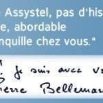 Pierre Bellemare ambassadeur de la société de téléassistance Assystel