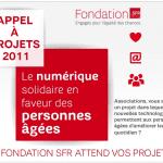 Appel à projets de la fondation SFR : le numérique solidaire en faveur des personnes âgées