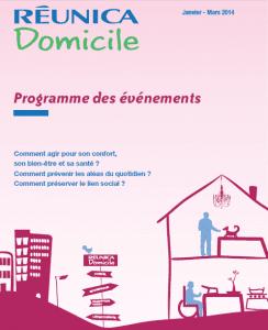 Programme Reunica Domicile 1er trimestre 2014