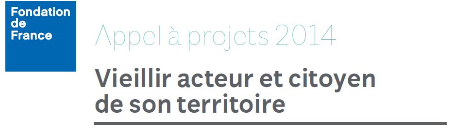 Appel à projets fondation de France - 2
