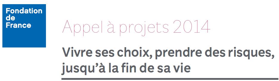 Appel à projets fondation de France