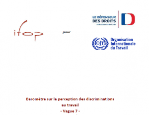baromètre IFOP sur la perception des discriminations au travail