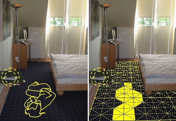 sensfloor un sol intelligent pour d tecter les chutes silver economie. Black Bedroom Furniture Sets. Home Design Ideas