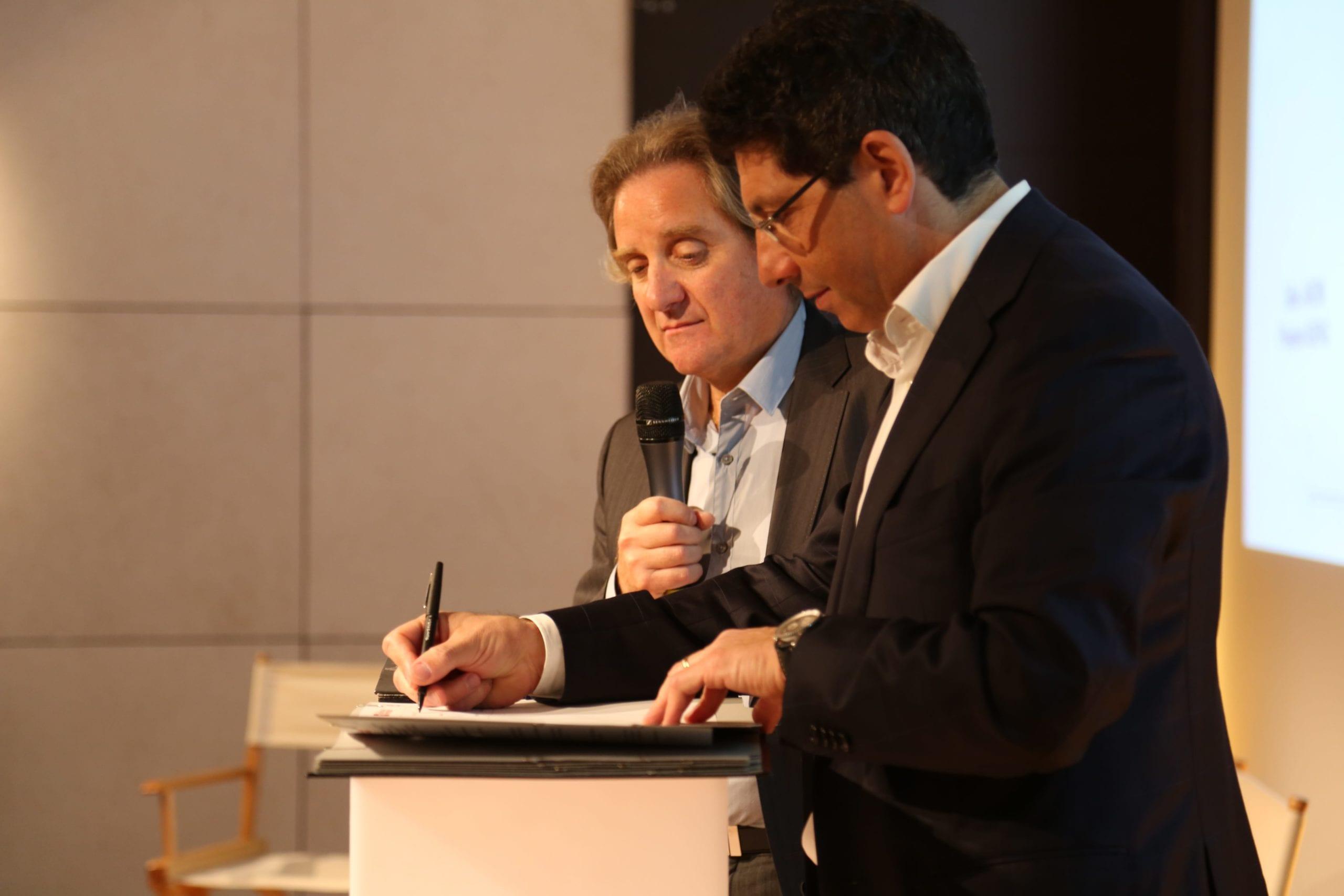 Dider Jardin, président du syndicat ASIPAG et  Maxime Aiach, président de la FESP.