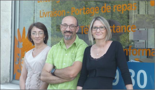 De gauche à droite : Evelyne MANCEL, Régis BARRERE et Sandrine PRESLE