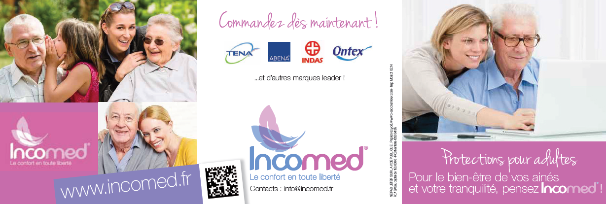incomed, incontinence, fuite urinaire, protection pour adultes
