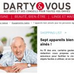 Distribution : Darty propose une liste de produits «pensés seniors»